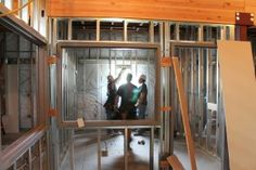 Framing and drywall for a new or updated room.