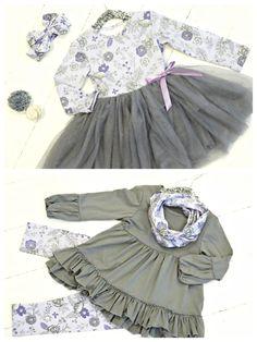 Purple Posies Tutu Dress