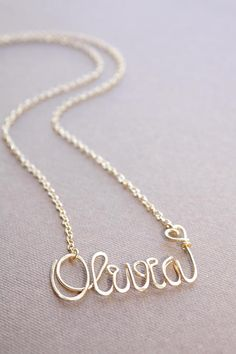 Gold Name Necklace Custom Name Necklace Personalized Name