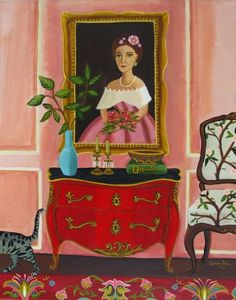 Leo and The Baroness-Original painting by Catherine Nolin, painting by artist Catherine Nolin