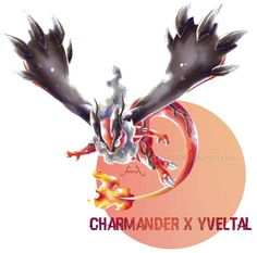 Charmander X Yveltal by on DeviantArt - Poke Ball Brock Pokemon, Pokemon Rare, Pokemon Mix, Pokemon Fusion Art, Play Pokemon, Pokemon Fan Art, New Pokemon, Pokemon Stuff, Pikachu Art