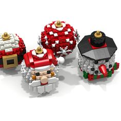 LEGO IDEAS - Product Ideas - Christmas Balls Ornaments Lego Christmas Ornaments, 3d Christmas, Ball Ornaments, Christmas Balls, Vintage Christmas, Lego Hogwarts, Lego Winter, Lego Challenge, Lego Toys
