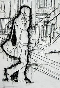 Thread drawing- Debbie Smith