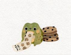 Kawaii Icons, Frog Art, Cute Frogs, Dibujos Cute, Cute Illustration, Aesthetic Art, Cute Drawings, Cute Wallpapers, Cute Art
