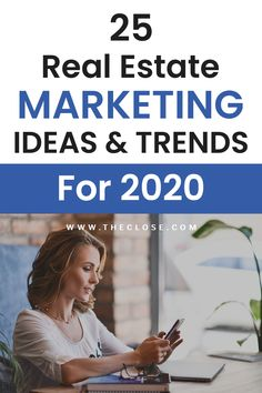 Investing For Beginners Discover 25 Real Estate Marketing Ideas for 2020 We put together a list of the top 25 real estate marketing ideas and trends for Get more business in the new year. Real Estate Career, Real Estate Business, Real Estate Leads, Real Estate Tips, Real Estate Investing, Marketing Plan, Real Estate Marketing, Online Marketing, Real Estate Quotes