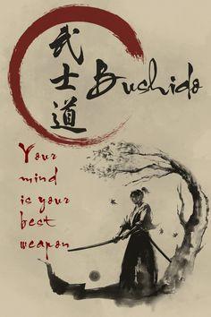 Samurai Poster – dein Verstand is… Cartel Samurai – Tu mente es tu mejor arma – Bushido –. Samurai Quotes, Samurai Warrior Tattoo, Ronin Samurai, Bushido, Martial Arts Quotes, Samurai Artwork, Japanese Quotes, Japanese Drawings, Warrior Quotes