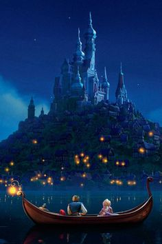 Day 7: Favorite Castle  **The castle in Tangled** Super pretty when they release the lanterns! :)