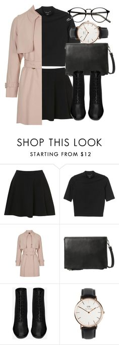 """Untitled #5061"" by laurenmboot ❤ liked on Polyvore featuring Topshop, Monki, MANGO, Yves Saint Laurent, Daniel Wellington, women's clothing, women's fashion, women, female and woman"