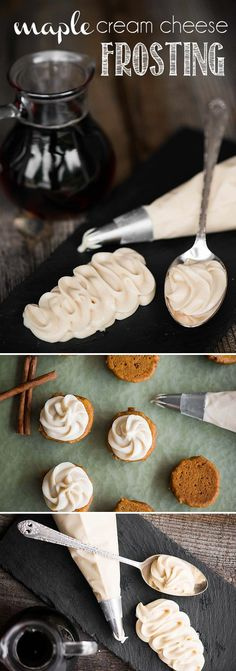 Maple Cream Cheese Frosting, made with pure maple syrup and maple sugar, is a creamy sweet topping that is excellent for fall season cookies and cakes!