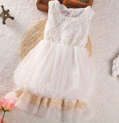 White Classic Dress for Flower Girls