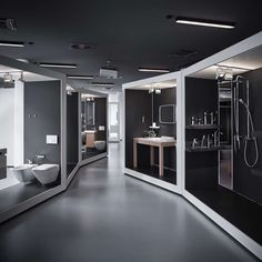 Amazing! Modularity & Design hand in hand. aquaMART sanitary showroom by FLÓ Architects, Budapest