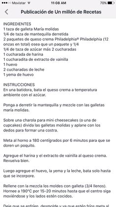 Receta de mini chees cakes