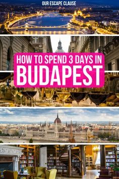The perfect 3 days in Budapest itinerary: how to see the best of the city! Cool Places To Visit, Places To Travel, Travel Destinations, Europe Travel Guide, Travel Guides, Travel Advice, Budapest Travel, Hungary Travel, Central Europe