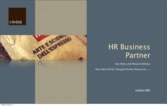 HR  Business Partner: Roles and Responsibilities