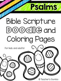What better way to help your kiddos (and yourself) learn Bible verses than coloring and doodling your way to memorization!!! Teacher's Gumbo Bible Art series has begun.This is the first of many in this series of Bible Art. The download contains 10 verses from Psalms and many will be added soon.