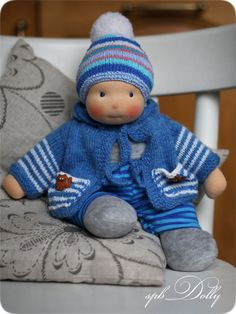Купить Вовка - кукла текстильная игровая ручной работы для мальчика или девоч - разноцветный, кукла