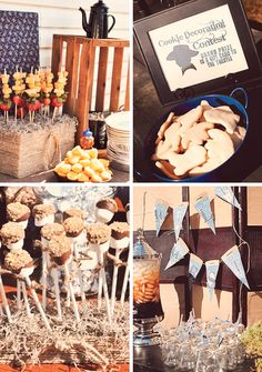 Country Birthday Party Ideas | Cowboy Cookie Corral Birthday Party // Hostess with the Mostess®