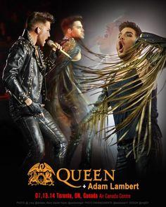 QUEEN + ADAM LAMBERT TOUR 2014 - Toronto, ON,Canada...Air Canada Centre...7.13.14