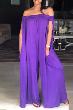 Summer Stylish Simple Plain Off the Shoulder Wide Leg Jumpsuits for Women Amazing Wedding Dresses On Sale, Perfect Fit For Your Dream Wedding! Cheap Clothes, Clothes For Women, Cheap Dresses, Casual Jumpsuit, Red Jumpsuit, Jumpsuit With Sleeves, Fashion Boutique, Boutique Clothing, Clothing Sites