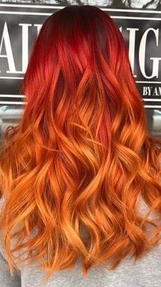 Beste rote Ombre Haarfarben für 2017