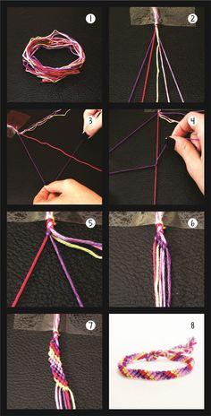 DIY: Friendship Bracelet! Faça você mesmo sua pulseira trançada!