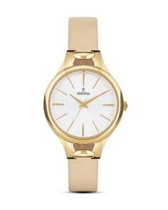 Quarzuhr Mademoiselle F16955/1 Festina beige,gold,weiß 8430622643958