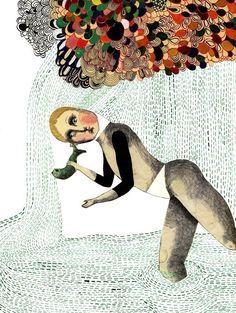 Ilustration pluie Treasure, €45.00 by LES PETITS BOHEMES