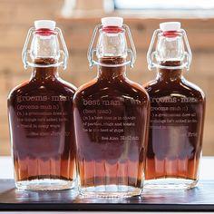Vintage inspired glass flasks for unique groomsmen gifts