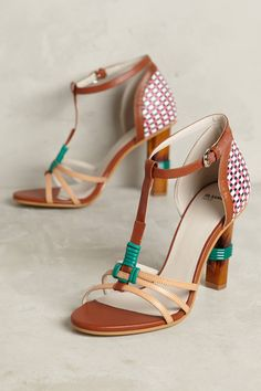 7a1f534b4657 Shop the Jil Sander Navy Tapered T-Strap Heels and more Anthropologie at  Anthropologie today