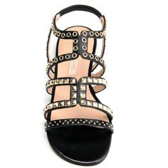 Pura Lopez Arrosa Sandal Black Calf | SS2013