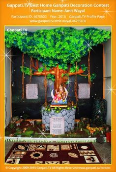 Amit Wayal Home Ganpati Picture 2015. View more pictures and videos of Ganpati Decoration at www.ganpati.tv