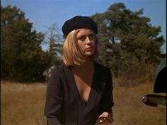 Faye Dunaway in Bonnie and Clyde, 1967