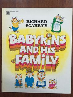 Richard Scarry's Babykins & His Family by Richard Scarry Rare Golden Book 1973 Hardback. by weseatree on Etsy