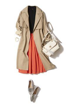鮮やかオレンジで気分一新!春本番はキレイ色スカートで始めましょう♪ ― B