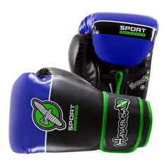 Hayabusa Sport 12oz Boxing Gloves In Black/Blue/Lime Green