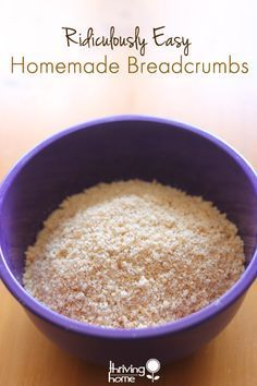 how to make your own breadcrumbs