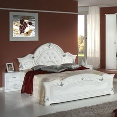 Stella White & Silver Bedroom Set with 4 Door Wardrobe. From Italian Chic Furniture UK. Made in Italy. 4 Door Wardrobe, Mirrored Wardrobe, White And Silver Bedroom, Italian Bedroom Furniture, Italian Chic, Bedding Sets Uk, Restoration Hardware Bedding, Bedroom Sets, Doors