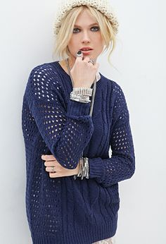 Open-Knit Fisherman Sweater | FOREVER21 - 2000060247
