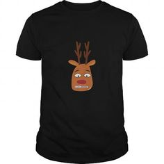 Awesome Tee Zip Mouth Reindeer Cute Funny Christmas Emoji SHIRT T-Shirts
