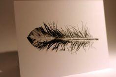 Pressed Feather art print