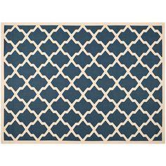 Safavieh Courtyard Moroccan Lattice Indoor Outdoor Rug, Blue