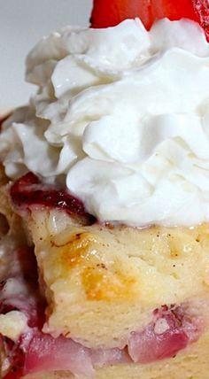 Strawberry Cheesecake Bread Pudding