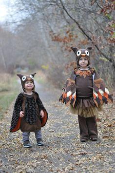 DIY Owl Halloween Costumes. #halloween