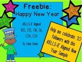 Freebie: Happy New Year ABLLS-R aligned activities Help me celebrate getting started on TPT and the New Year at the same time! Thank you to my first 10 followers! I hope you enjoy this sample of my larger Happy New Year ABLLS-R aligned unit.