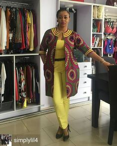 It's really amazing to see how the Ankara African print can be used in designing almost any style you can think of. And as such, Ankara Jacket has become a popular item in the wardrobe of many fashionable ladies & celebrities.So if you are looking for lu African Fashion Ankara, Ghanaian Fashion, Latest African Fashion Dresses, African Print Dresses, African Print Fashion, Africa Fashion, African Dress, African Clothes, African Prints