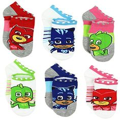 These toddler girl's Yankee Toy Box exclusive PJ Masks sock sets are a great value. They feature graphics of the your favorite masked superheroes: Gekko, Catboy, and Owlette! Little Boy Outfits, Toddler Outfits, Kids Outfits, Boys Socks, 6 Pack, Pj Mask, Cute Socks, Baby Shop, Toddler Girl