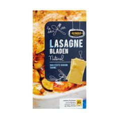 Jumbo Lasagne Bladen Naturel 250g - Lasagnebladen