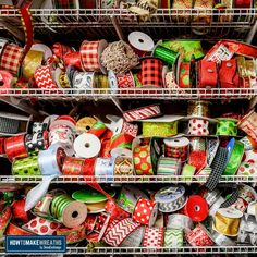 The best ribbon for wreaths - ever wonder where we find all the fantastic ribbon used in our ribbon wreaths? Here are the seven shops we love and recommend for ribbon supplies. Cheap Ribbon, Diy Ribbon, Ribbon Bows, Wreath Crafts, Diy Wreath, Christmas Bows, Christmas Crafts, Ribbon Wreath Tutorial, Bow Tutorial