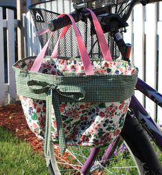 Thimbles, Bobbins, Paper and Ink: Bicycle Basket Liner