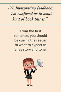 """197: Interpreting feedback: """"I'm confused as to what kind of book this is."""""""